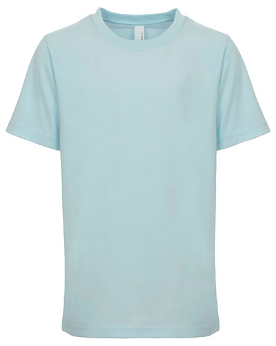 Light Blue Custom Next Level Youth Boys' Cotton Crew