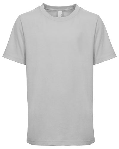 Light Grey Custom Next Level Youth Boys' Cotton Crew