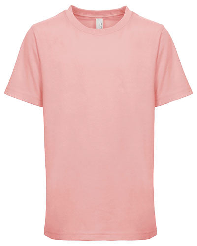 Light Pink Custom Next Level Youth Boys' Cotton Crew