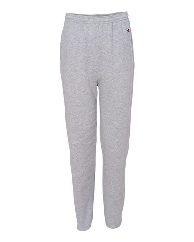 Light Steel Custom Champion Double Dry Eco Open Bottom Sweatpants with Pockets