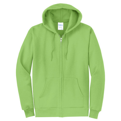 Lime Custom Full Zip Hooded Sweatshirt