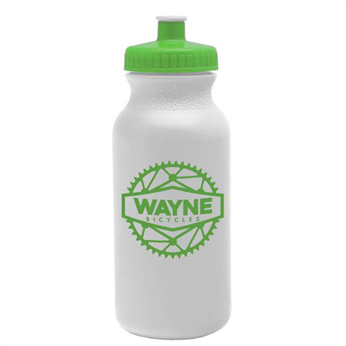 Lime Green Custom USA Made Water Bottle