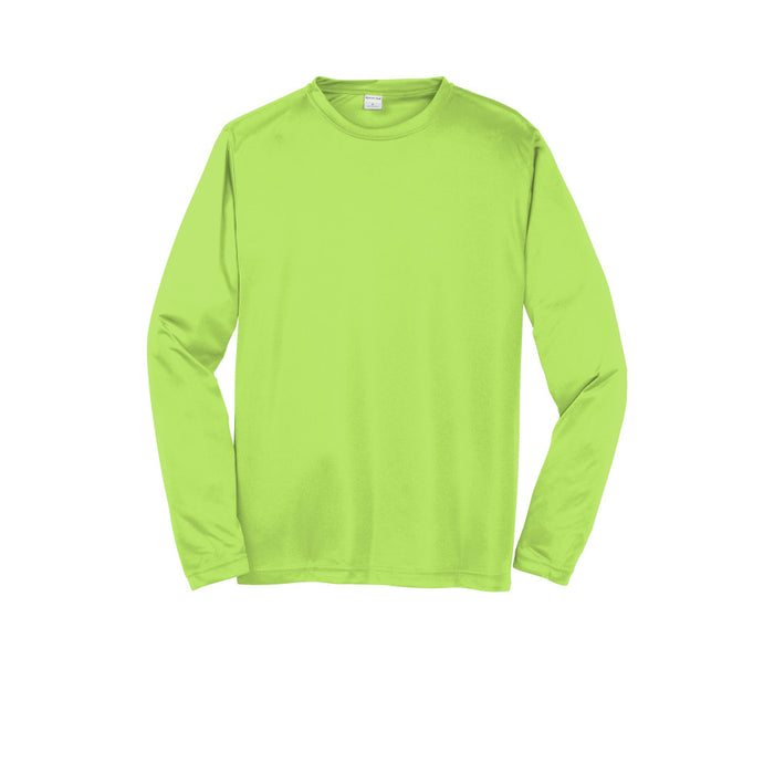 Lime Shock Custom Long Sleeve Dry Performance T-Shirt