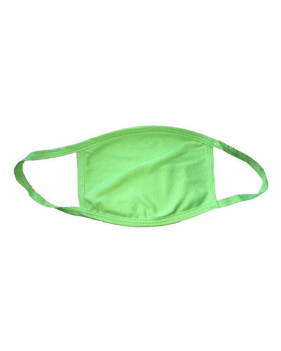 Lime Green Custom Bayside USA-Made 100% Cotton Face Mask