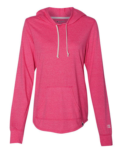 Lotus Pink Custom Champion Women's Originals Triblend Hooded Pullover