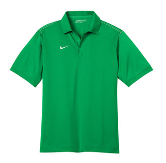 Lucky Green Nike Dri-FIT Sport Swoosh Pique Polo With Logo