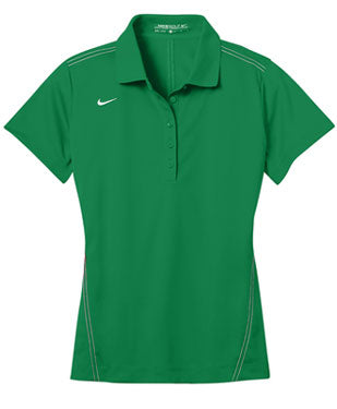Lucky Green Nike Dri-FIT Ladies Sport Swoosh Pique Polo With Logo