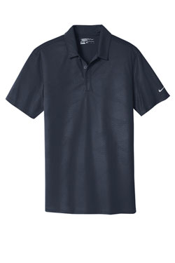 Marine Nike Dri-FIT Embossed Tri-Blade Polo With Logo