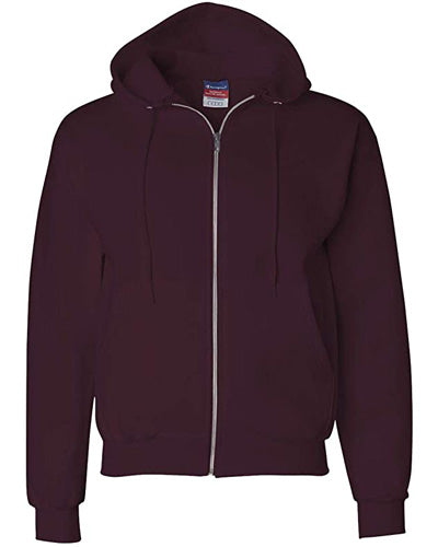 Maroon Custom Champion Full Zip Hoodie Sweatshirt