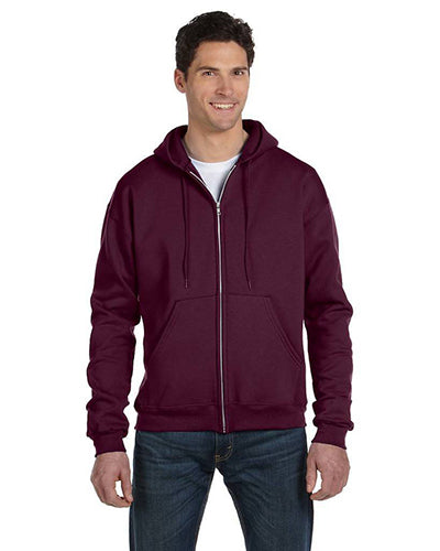 Maroon Custom Champion Full Zip Hoodie  Sweatshirt with logo