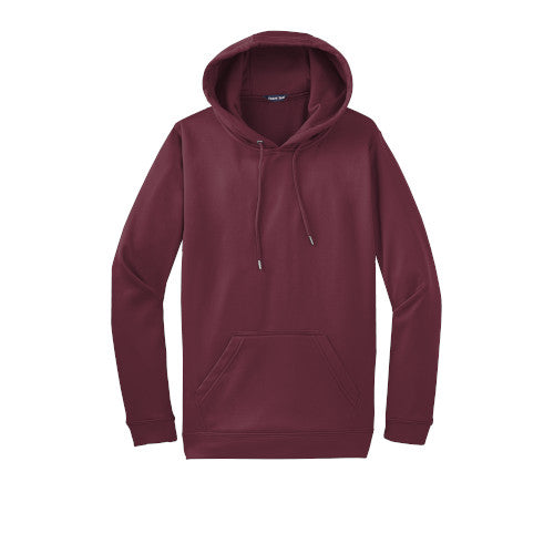 Maroon Custom Dry Performance Hoodie Sweatshirt