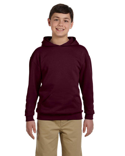 Maroon Custom Jerzees Youth Hooded Sweatshirt