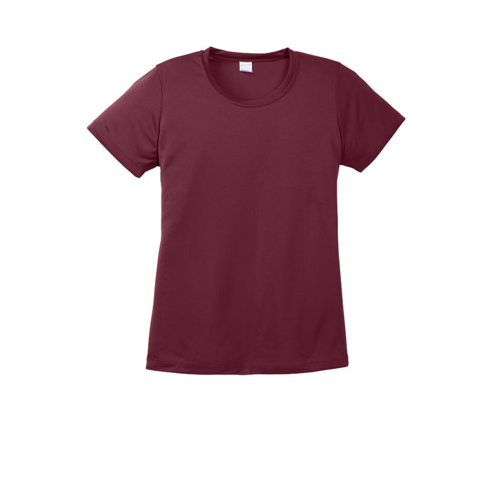 Maroon Custom Ladies Dry Performance T-Shirt