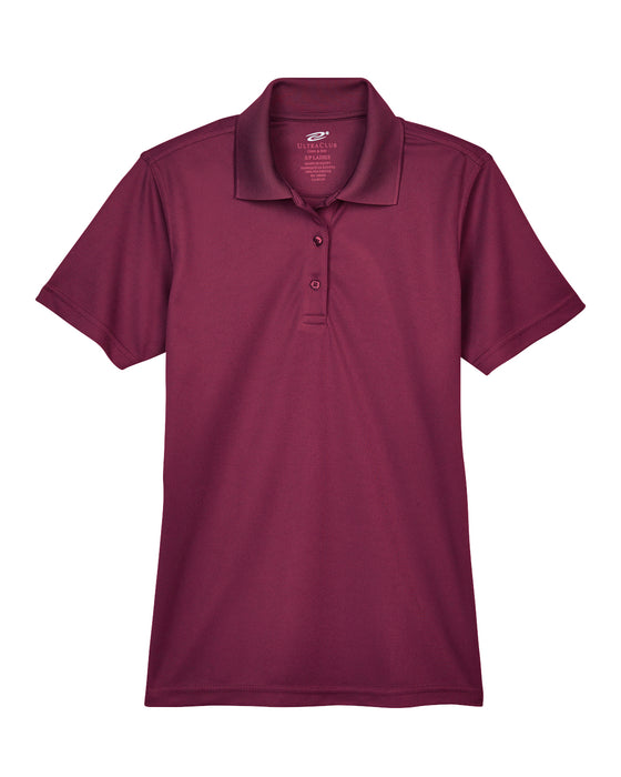 Maroon Ladies Dry Wicking Polo With Logo