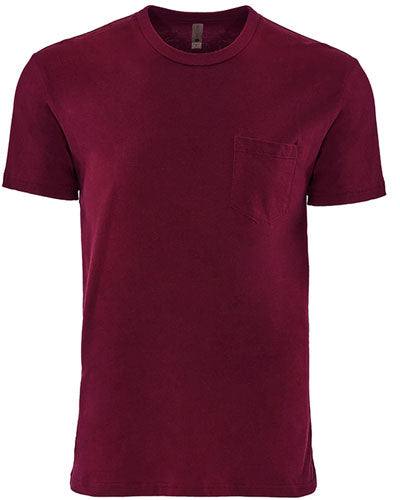 Maroon Custom Next Level Unisex Pocket Crew