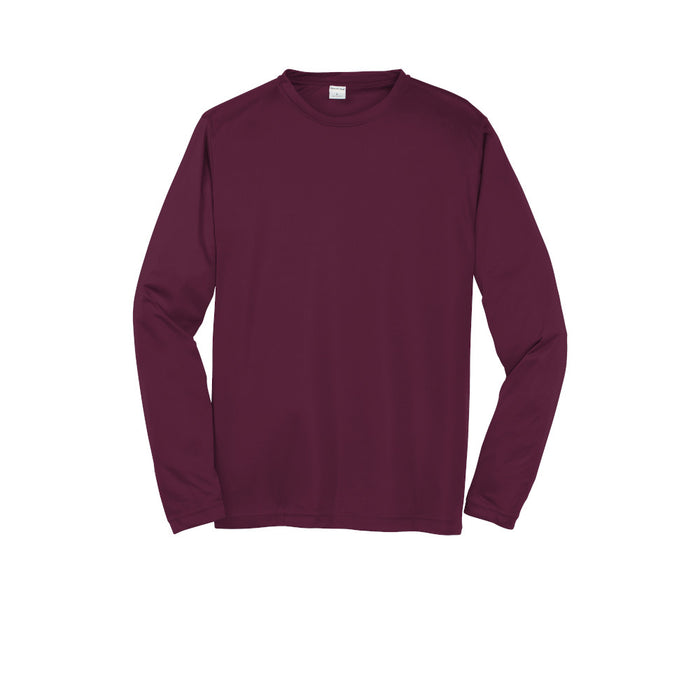Maroon Custom Long Sleeve Dry Performance T-Shirt