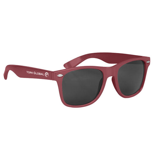 Maroon Custom Malibu Sunglasses