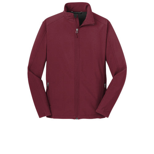 Maroon Custom Men's Soft Shell Jacket