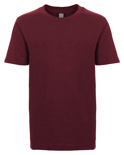 Maroon Custom Next Level Youth Boys' Cotton Crew