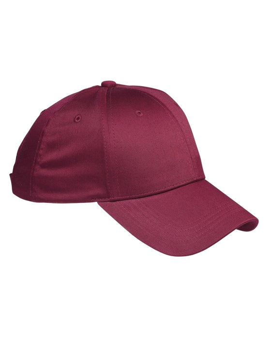 Maroon Custom Structured Embroidered Hat