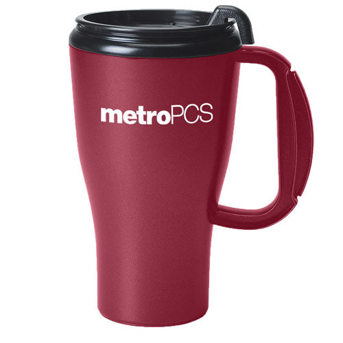 Maroon Custom Travel Mug 16oz