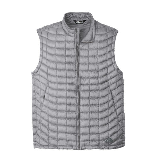 Mid-Grey Custom The North Face ThermoBall Trekker Vest Jacket