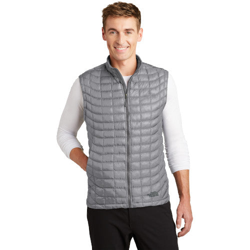 Mid-Grey Custom The North Face ThermoBall Trekker Vest Jacket with logo