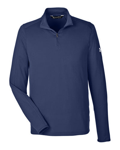 Midnight Navy/ White Custom Under Armour Men's UA Tech™ Quarter-Zip