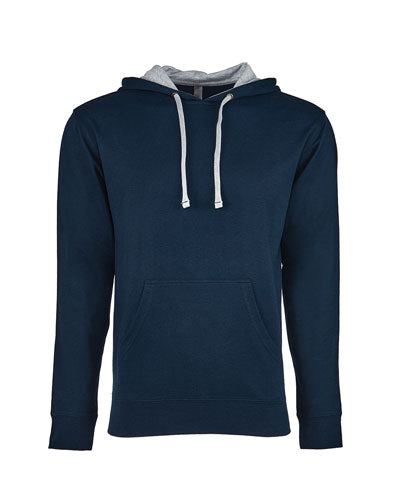 Mid Navy/ Heather Grey Custom Next Level Unisex French Terry Pullover Hoody