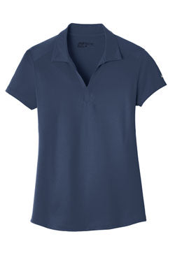 Midnight Navy Nike Ladies Dri-FIT Legacy Polo With Logo