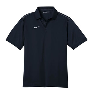 Midnight Navy Nike Dri-FIT Sport Swoosh Pique Polo With Logo