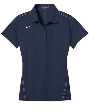 Midnight Navy Nike Dri-FIT Ladies Sport Swoosh Pique Polo With Logo