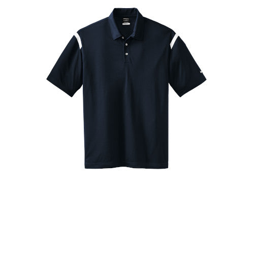Midnight Navy/White Nike Dri-FIT Shoulder Stripe Polo With Logo