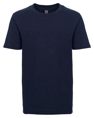 Midnight Navy Custom Next Level Youth Boys' Cotton Crew
