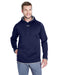 Midnight Navy/Steel Custom Under Armour Team Hoodie with logo