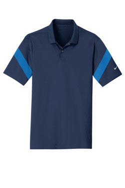 Midnight Navy/ Photo Blue Nike Dri-FIT Commander Polo With Logo
