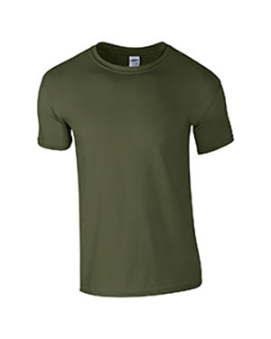Military Green Custom Gildan Soft Style T-Shirt