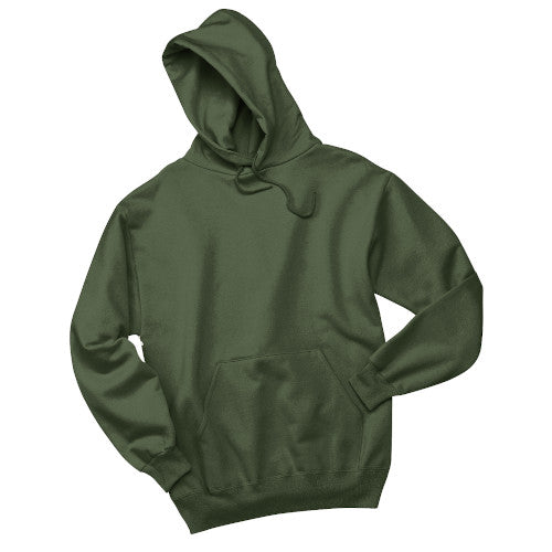 Military Green Custom Jerzees Hooded Sweatshirt