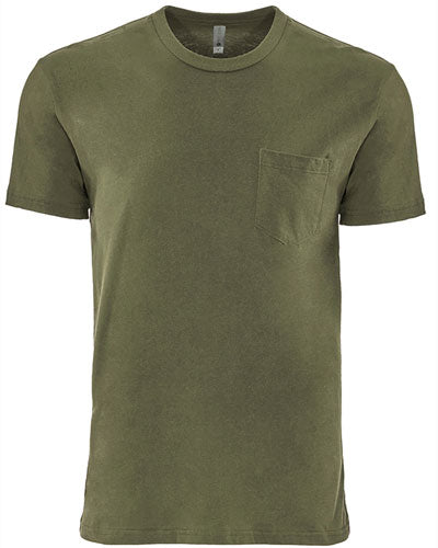 Military Green Custom Next Level Unisex Pocket Crew