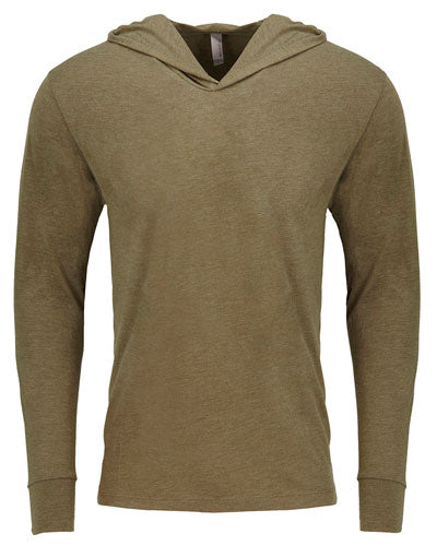 Military Green Custom Next Level Adult Triblend Long-Sleeve Hoody