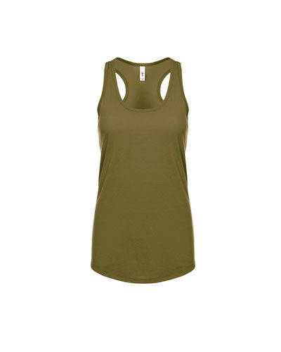 Military Green Custom Next Level Ladies' Ideal Racerback Tank