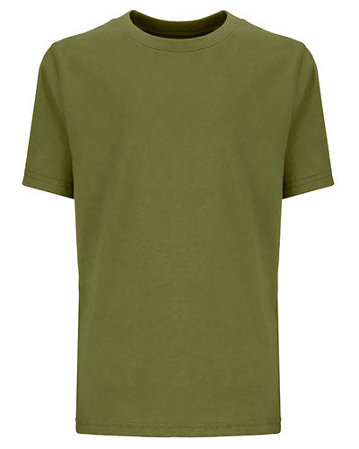 Military Green Custom Next Level Youth Boys' Cotton Crew