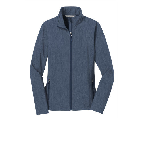 Navy Heather Custom Ladies Soft Shell Jacket