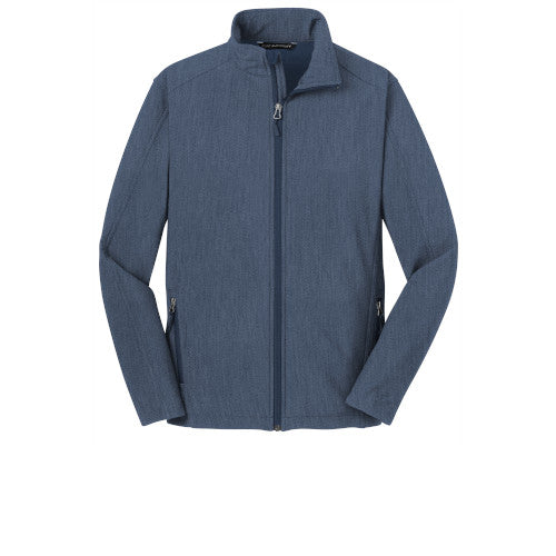 Navy Heather Custom Men's Soft Shell Jacket