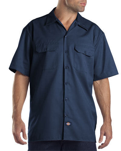 Navy Custom Dickies Work Shirt
