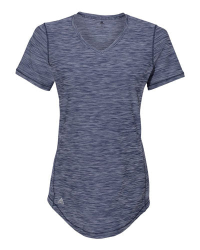 Navy Custom Adidas - Women's Melange Tech T- Shirt