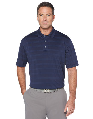 Navy Custom Callaway Textured Performance Polo