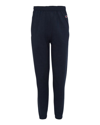 Navy Custom Champion Double Dry Eco Open Bottom Sweatpants with Pockets