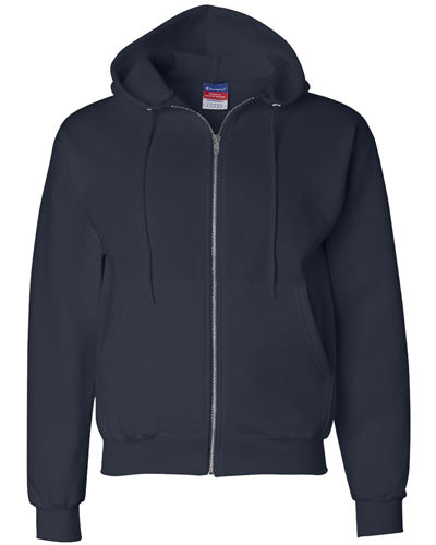 Navy Custom Champion Full Zip Hoodie Sweatshirt
