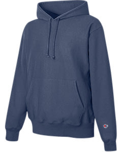 Navy Custom Champion Heavyweight Hooded Sweatshirt